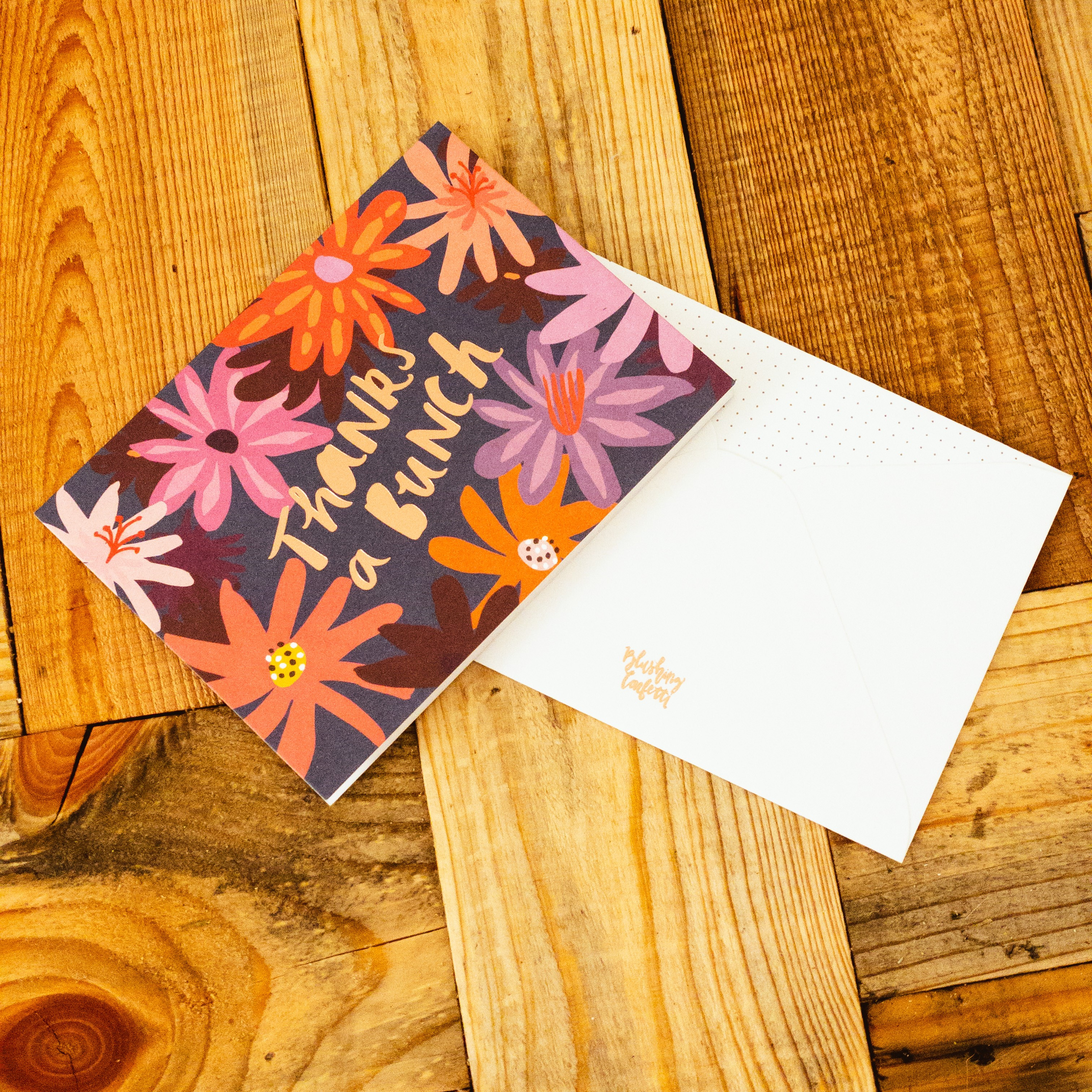 Thanks a bunch floral greeting card